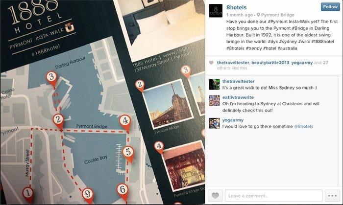 mapa instagram hotel