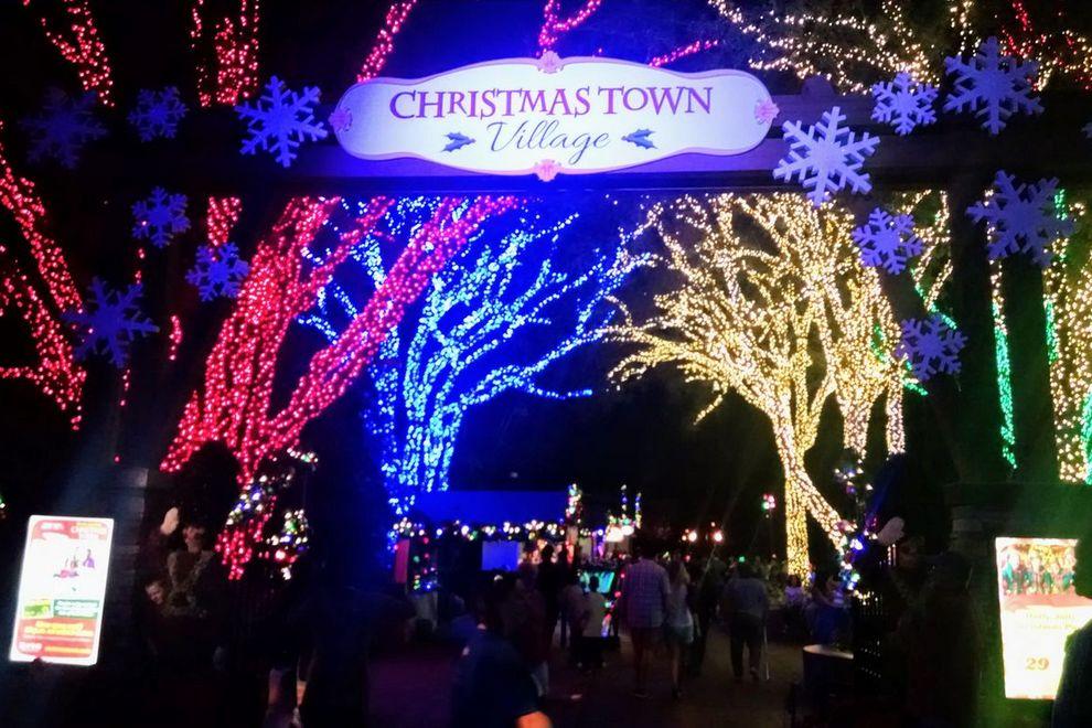 ChristmasTown Florida Tampa Navidad en un parque temático