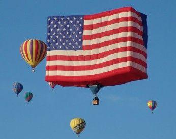 USA FLAG BALLOON ALBUQUERQUE